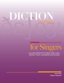 book for diction English, Italian, Latin, German, French, Spanish